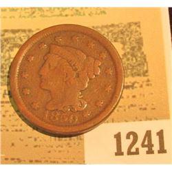 1241 _ 1850 U.S. Large Cent, Good.