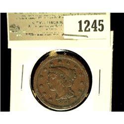 1245 _ 1851 U.S. Large Cent, Fine.
