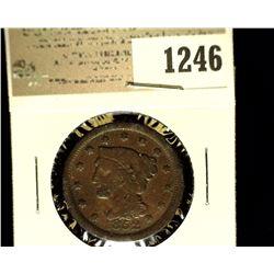 1246 _ 1852 U.S. Large Cent, Fine.
