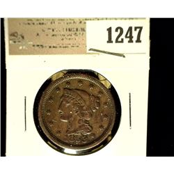 1247 _ 1853 U.S. Large Cent, Fine.