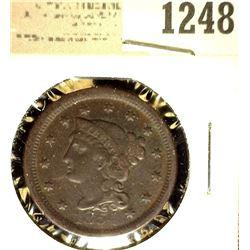 1248 _ 1854 U.S. Large Cent, Fine.