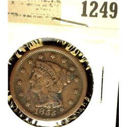 1249 _ 1855 U.S. Large Cent, Fine.