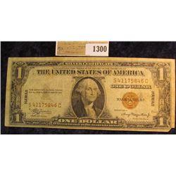 """1300 _ Series 1935 A """"Hawaii"""" Overprint World War II Silver Certificate, Fine."""