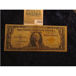 "1313 _ Series 1935 A ""North Africa Emergency Note"" U.S. One Dollar Silver Certificate, serial number"