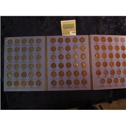 1314 _ Partial Set of Lincoln Cents in a blue Whitman folder, includes 1916P, S, 17P, D, S, 18P, D,