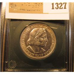 1327 _ 1893 World's Columbian Exposition Commemorative Silver Half Dollar in slabbed holder, not gra