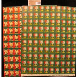 1340 _ 1950 & 52 Mint Sheets of American Lung Association Christmas Seals.
