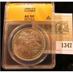 1347 _ 1886 O U.S. Morgan Silver Dollar ANACS slabbed AU50 Details.