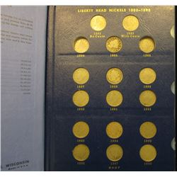 1379 _ 1883-1912 D Partial Liberty Nickel Set in a Deluxe Whitman album. Includes a high grade 1883