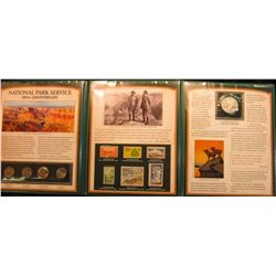 "1387 _ ""The National Park Service 100th Anniversary Commemorative Set with Stamps, Quarters, Rooseve"