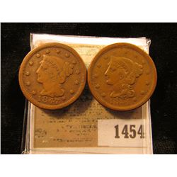 1454 _ 1847 & 1851 F-VF U.S. Large Cents.