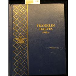 "1464 _ Used and empty Deluxe Whitman Album ""Franklin Halves 1948-"". No coins."