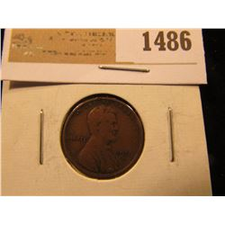 1486 _ 1910 S Lincoln Cent. VG.