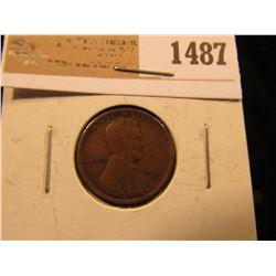 1487 _ 1911 S Lincoln Cent, Fine.