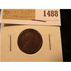 1488 _ 1912 S Lincoln Cent, Fine.
