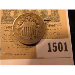 1501 _ 1866 U.S. Shield Nickel, VG.