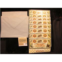 "1508 _ (9) Mint Sheets of ""Brazil 76 0,80 agencia 1000"" complete with envelopes."