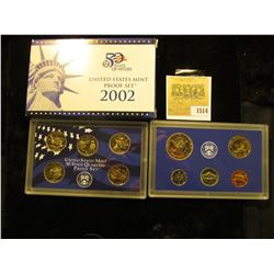 1514 _ 2002 S U.S. Proof Set, Original as issued. A nice attractive set with all coins exhibiting Ca