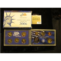 1518 _ 2006 S U.S. Proof Set, Original as issued. A nice attractive set with all coins exhibiting Ca