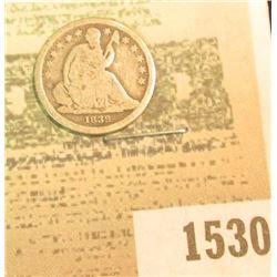 1530 _ 1839 U.S. Seated Liberty Dime, Good/AG.
