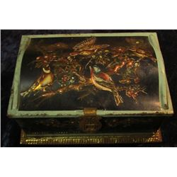 "1534 _ ""Linette"" Metal Jewelry Box ""Made in Western Germany"" containing a wide variety of Costume Je"
