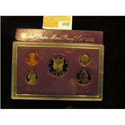1547 _ 1992 S U.S. Proof Set, Original as issued.