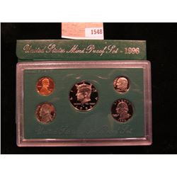 1548 _ 1996 S U.S. Proof Set, Original as issued.