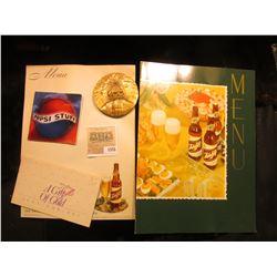 1555 _ 1996 Pepsi Stuff Catalog; (2) different Schlitz Beer blank advertising Menus; 24K gold plated