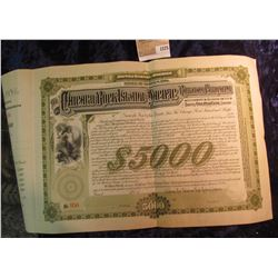 "1575 _ ""The Chicago, Rock Isl& , & Pacific Railway Company"" Thirty Year $5000 Debenture Bond, vignet"
