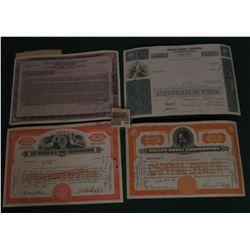 "1583 _ (5) Different Stock Certificates: ""Lee Rubber & Tire Corporation""; ""Phelps Dodge Corporation"""