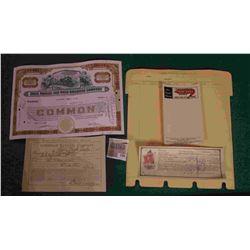 "1590 _ Index Sheet of ""Savings Account Farmers Savings Bank, Barnes City, Iowa""; ""Continental Flame"