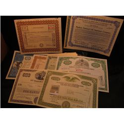 """1596 _ Selection of memorabilia including Stock Certificates from """"Bankers National Life Insurance C"""