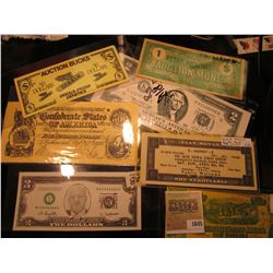 "1645 _ ""Harkin for President"" VHS tape; (9) pcs. ""Murray's Antiques"" $2 Advertising Notes; pair of $"