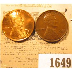 1649 _ Pair of 1931 D Lincoln Cents, One Brown Uncirculated, and other cleaned Bright AU..