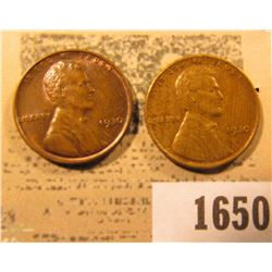 1650 _ Pair of 1930 P Lincoln Cents, both Brown Almost Uncirculated.