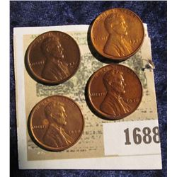 1688 _ (2) 1937 D AU, 38 P Unc, & 39 P Unc Lincoln Cents.