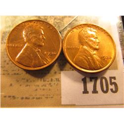 1705 _ Pair of 1936 D Lincoln Cents, Brilliant Red-Brown Uncirculated.