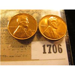 1706 _ Pair of 1936 D Lincoln Cents, Brilliant Red-Brown Uncirculated.