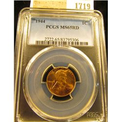 1719 _ 1944 P Lincoln Cent, PCGS slabbed MS65RD