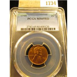 1734 _ 1946 P Lincoln Cent, PCGS slabbed MS65RD