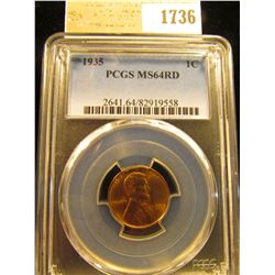 1736 _ 1935 P Lincoln Cent, PCGS slabbed MS64RD