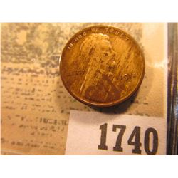 1740 _ 1914 S Lincoln Cent, VF.