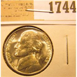 1744 _ 1945 P Blazing Beauty World War II Silver Jefferson Nickel.