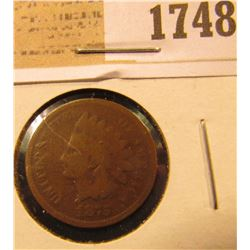 1748 _ 1875 U.S. Indian Head Cent.