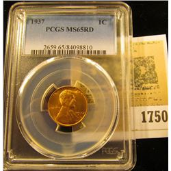 1750 _ 1937 P Lincoln Cent, PCGS slabbed MS65RD