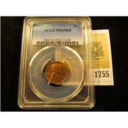 1755 _ 1937 S Lincoln Cent, PCGS slabbed MS65RD