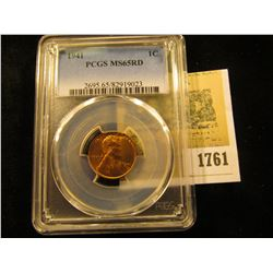 1761 _ 1941 P Lincoln Cent, PCGS slabbed MS65RD