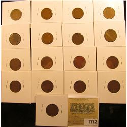 1772 _ (2) 1930P, (2) D, (2) S, (3) 34P, D, (2) 35P, D, S, (2) 36P, & 39P Wheat Cents, most are VG t