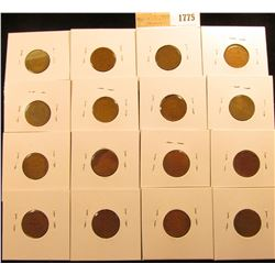 1775 _ (2) 1936P, D, S, (2) 37D, S, 38P, D, S, (3) 39P, D, & (2) 39S Wheat Cents, most are VG to F.