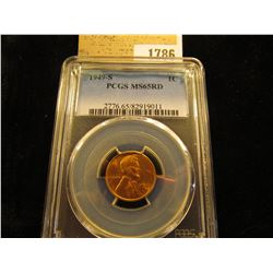1786 _ 1949 S Lincoln Cent, PCGS slabbed MS65RD.